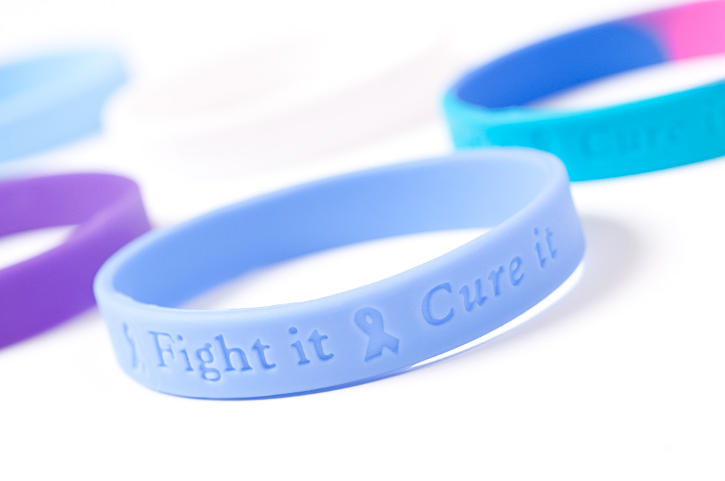 Product photography for healthcare products like these bracelets on white.